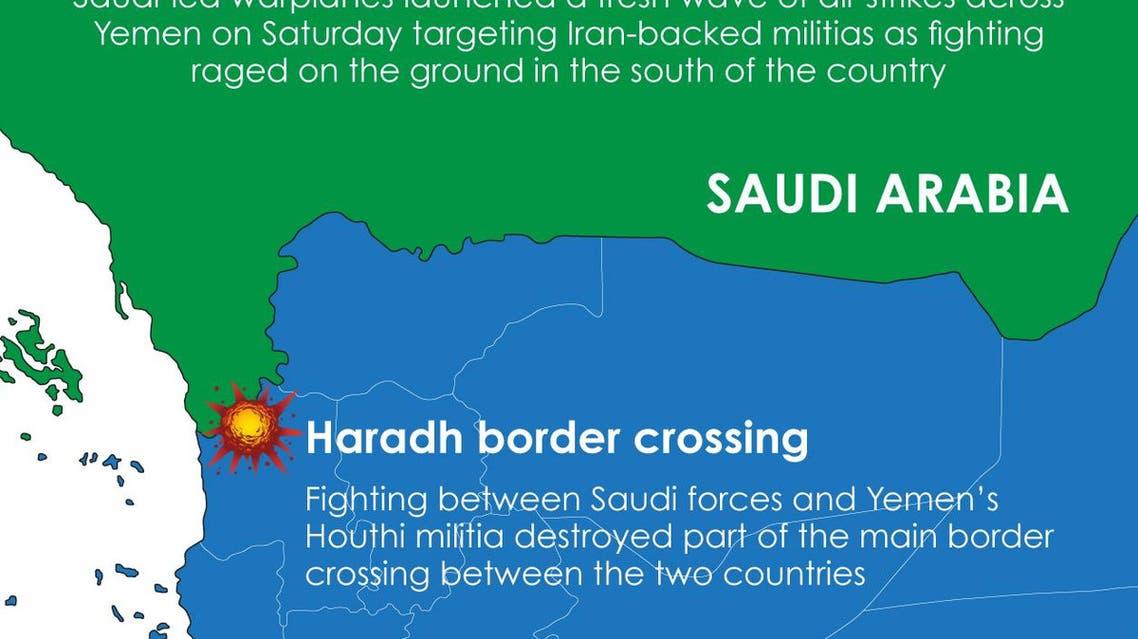 Infographic: Fresh round of air strikes target Houthi militias in Yemen