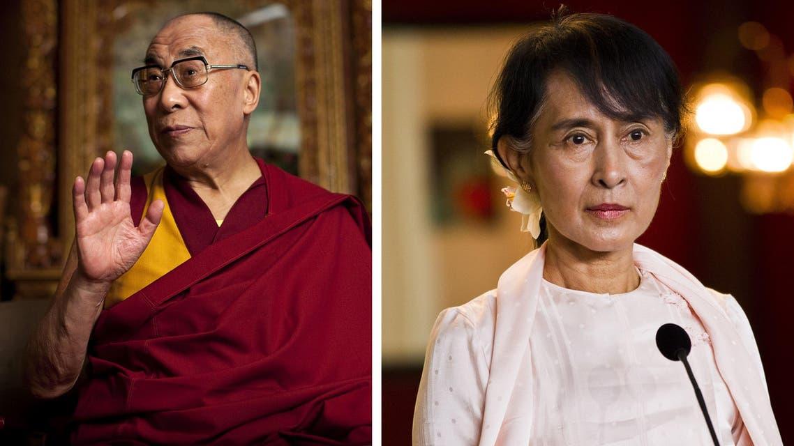 Dalai Lama Suu Kyi AP