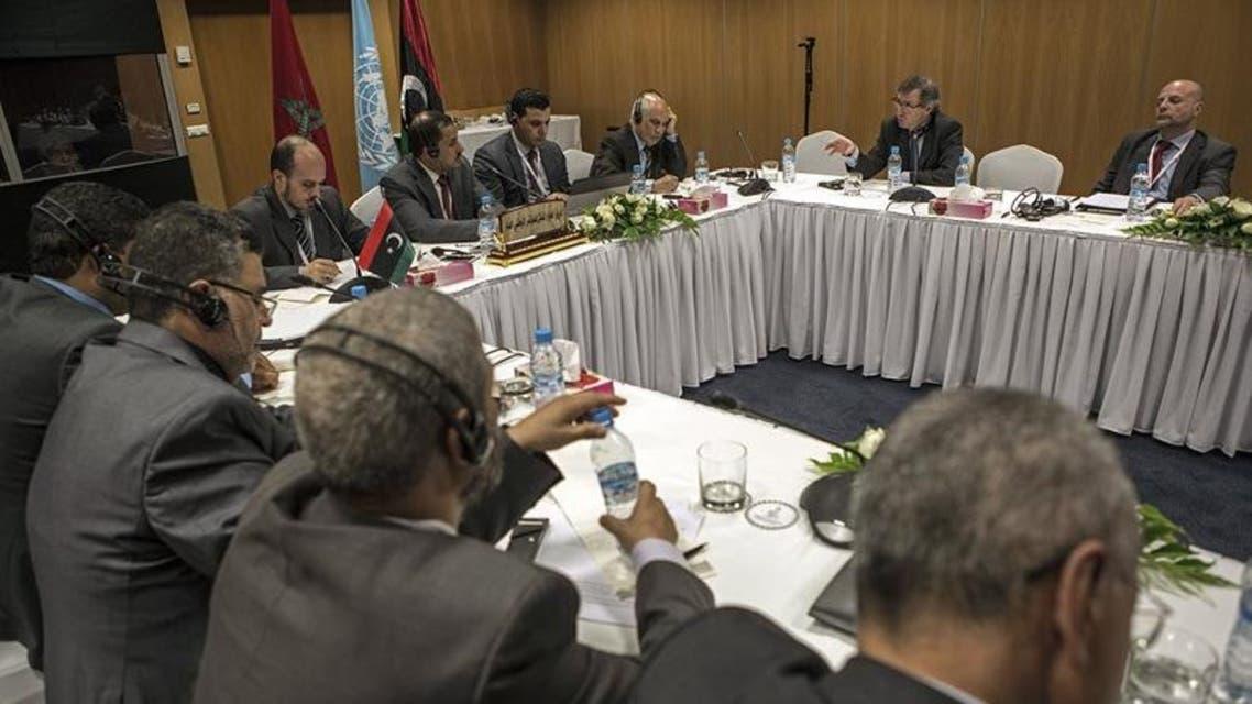 جانب من الحوار الليبي الذي جرى مؤخراً في المغرب
