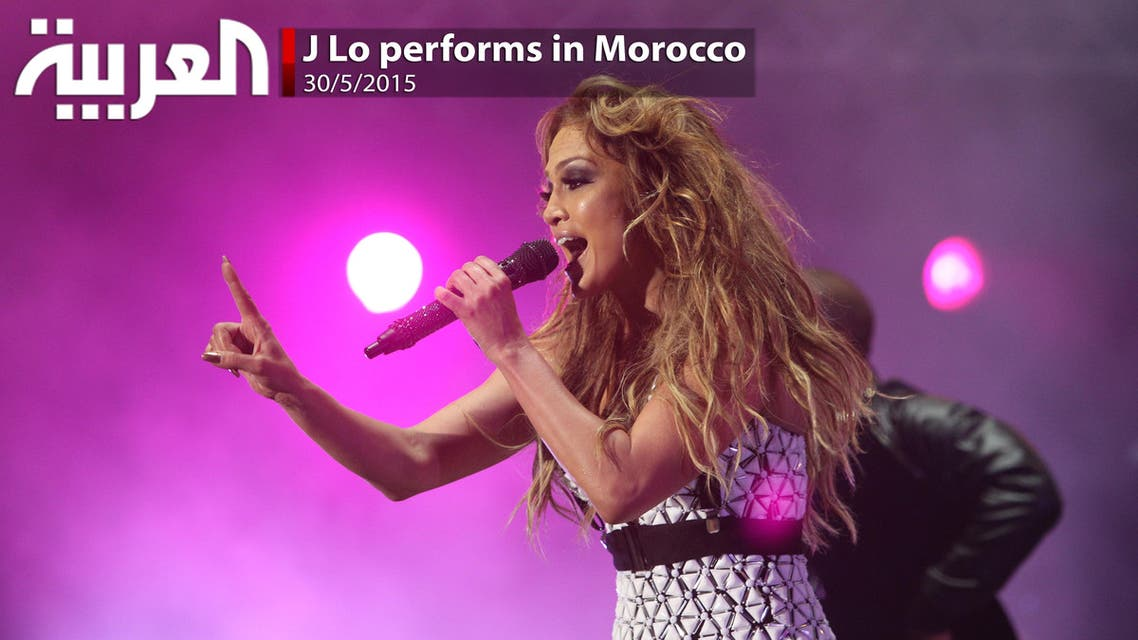 J Lo performs in Morocco