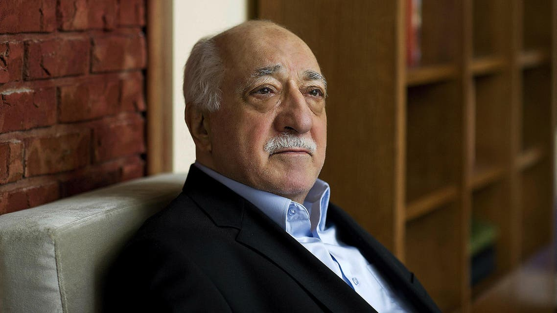 FILE - In this March 15, 2014 file photo, Turkish Islamic preacher Fethullah Gulen is pictured at his residence in Saylorsburg, Pennsylvania, United States. Police conducted raids in a dozen Turkish cities Sunday, detaining at least 24 people — including journalists, TV producers and police — known to be close to a movement led by a U.S.-based moderate Islamic cleric who is a strong critic of President Recep Tayyip Erdogan. It was the latest crackdown on cleric Fethullah Gulen's movement, which the government has accused of orchestrating an alleged plot to try to bring it down. (AP Photo/Selahattin Sevi, File)