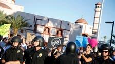 Tense anti-Islam protest outside U.S. mosque
