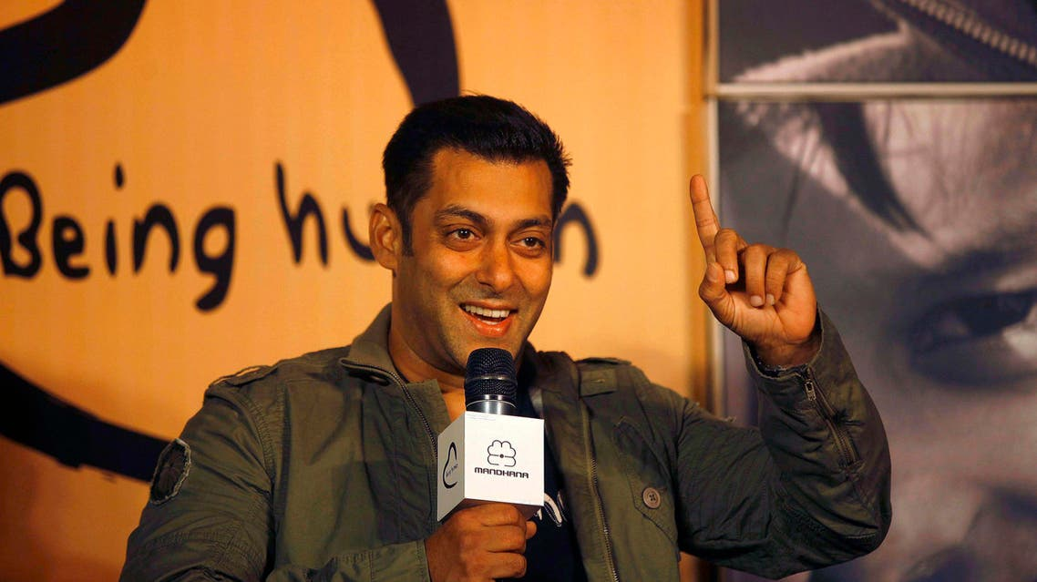 Bollywood star Salman Khan speaks during the launch of Being Human's first flagship store in Mumbai, India. AP