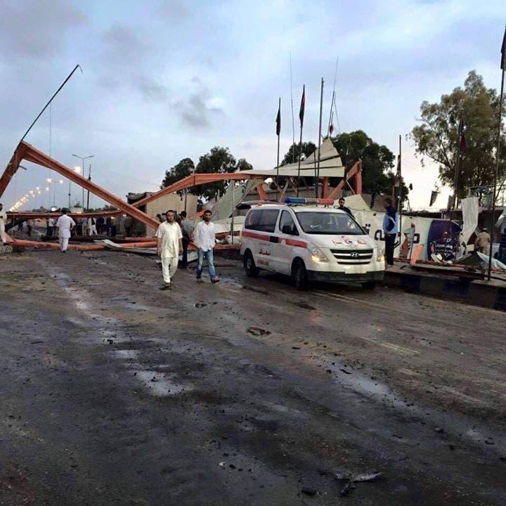 البوابة التي شهدت التفجير الإنتحاري