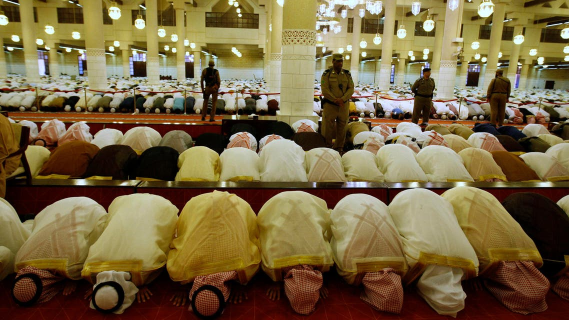Saudi Princes pray at the Imam Turki bin Abdullah mosque during Eid al-Fitr morning prayers in Riyadh, Saudi Arabia, Thursday, Sept. 9, 2010. Muslims pray celebrating Eid al-Fitr, marking the end of the holy lunar month of Ramadan following a month fasting between daybreak and sunset. (AP Photo/Hassan Ammar)