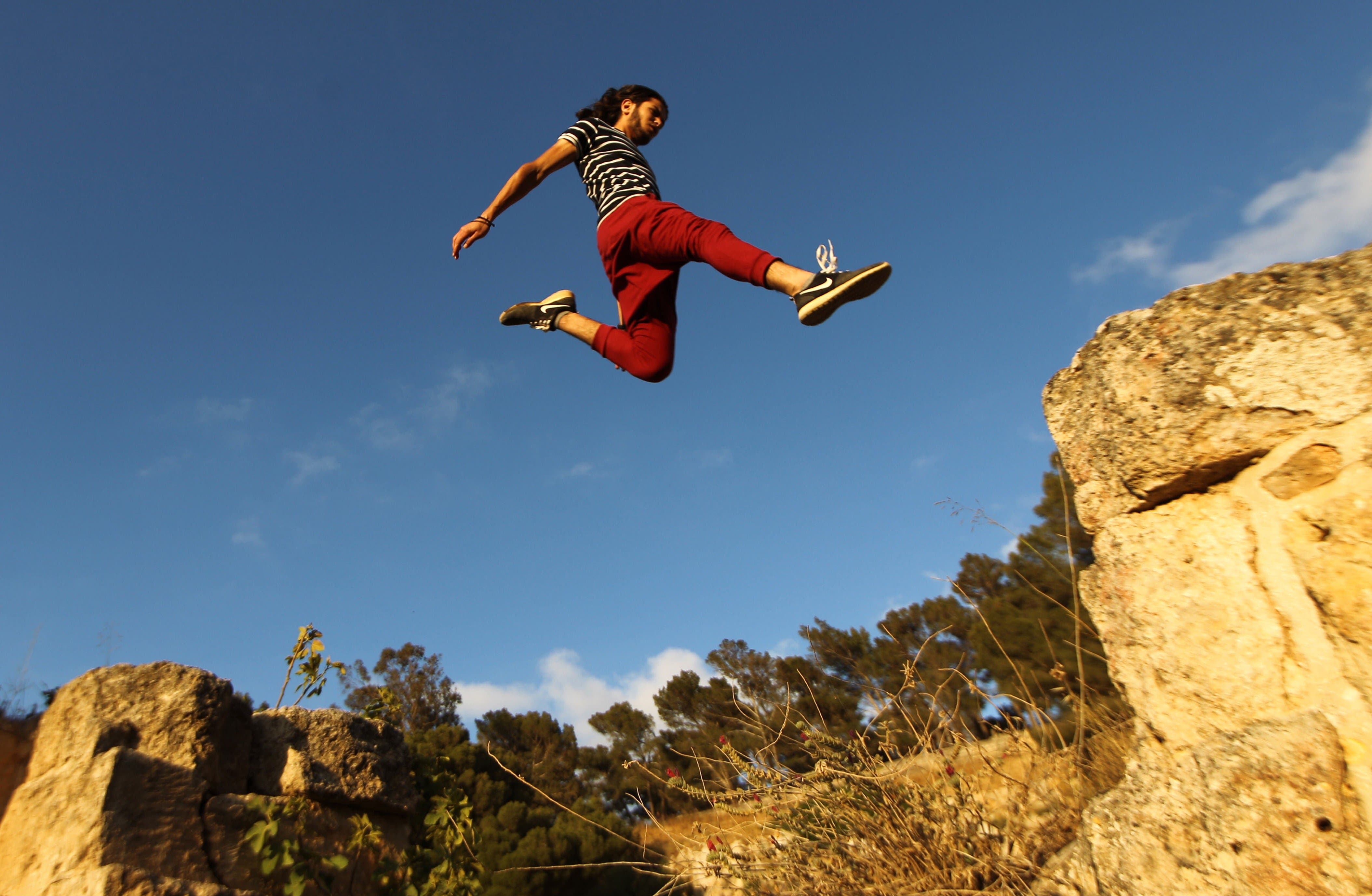 Parkour fun in Libya