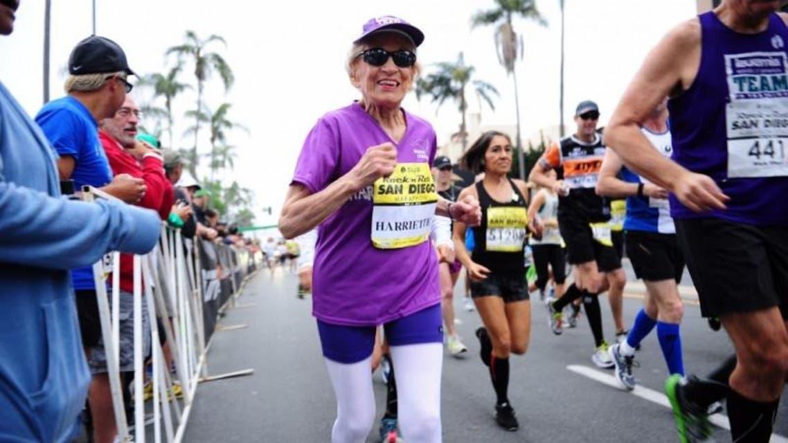 مسنة عمرها 92 عاما تشارك في الماراثون