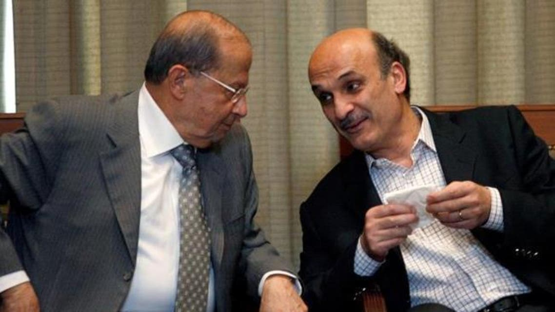 Michel Aoun and Samir Geagea