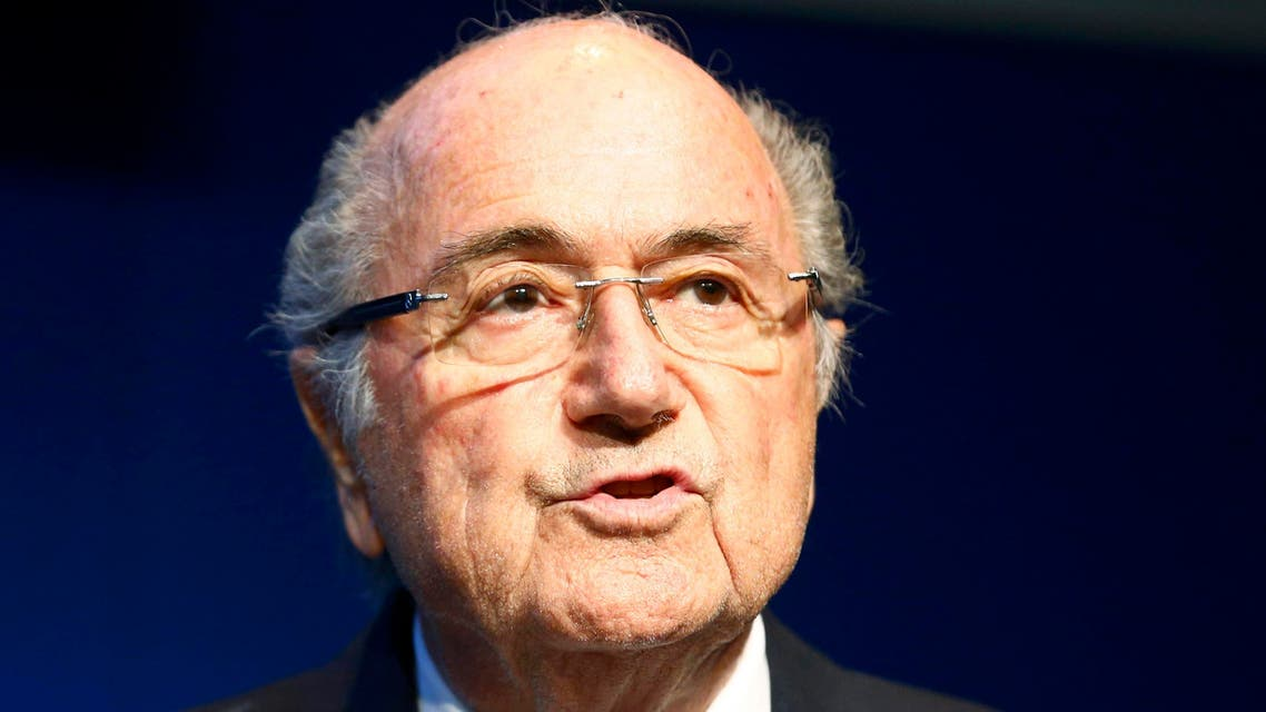 FIFA President Sepp Blatter addresses a news conference at the FIFA headquarters in Zurich, Switzerland, June 2, 2015. AP
