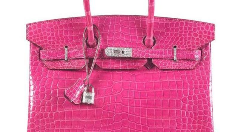 e72a715f1071 Crocodile-skin Hermes Birkin sells for a record  222