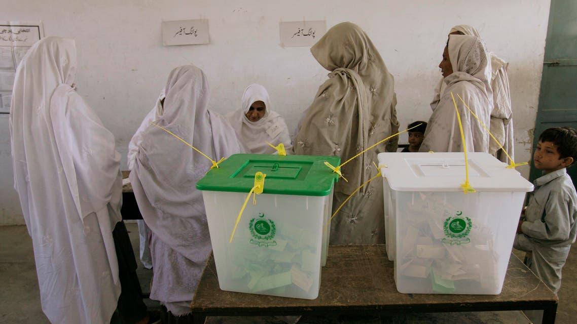 Pakistan women voting AP