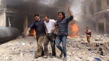 Syrian regime barrel bombs kill 14 in Aleppo