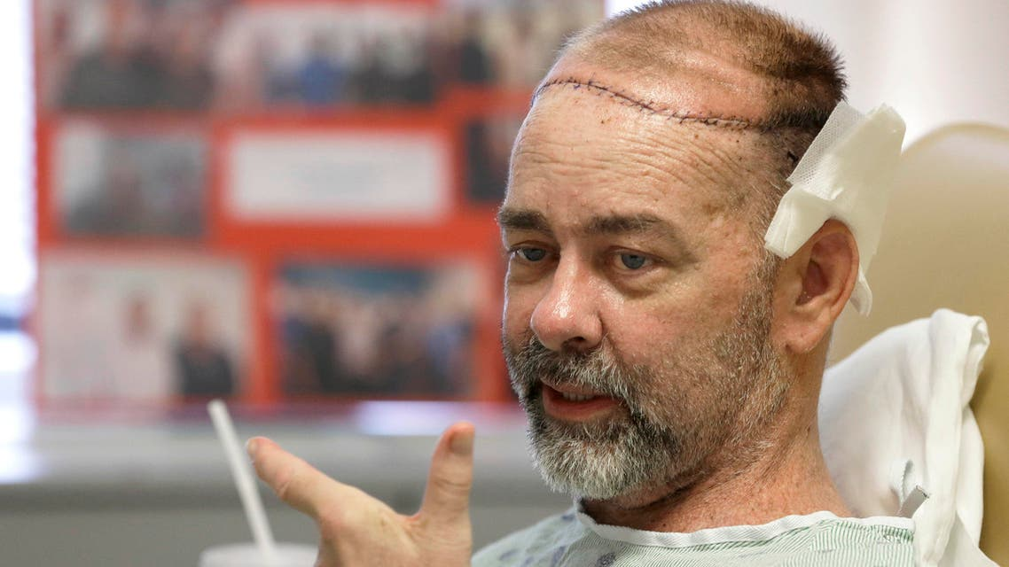 In this photo taken on Wednesday, June 3, 2015, James Boysen is interviewed in his hospital bed at Houston Methodist Hospital in Houston.  (AP)