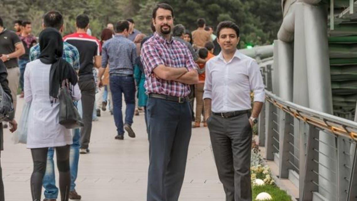 Aparat's Mohammad-Javad Shakouri Moghaddam, left, and Hamid Mohammadi of Digikala, Iran's answer to Amazon. (Photo courtesy: Arash Ashourinia /Observer)