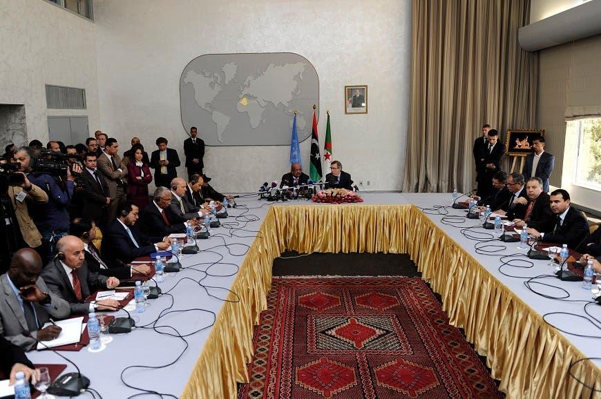 جلسة من الحوار الليبي برعاية الجزائر ليبيا