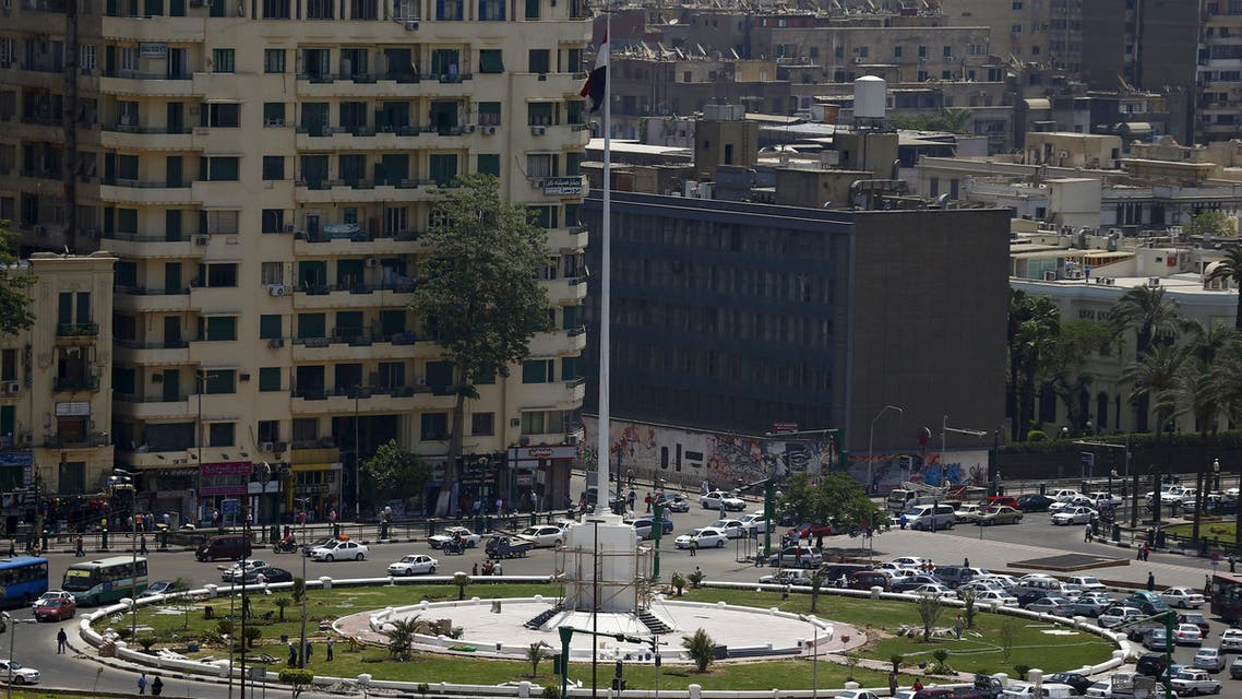 The new memorial is seen in the garden of Tahrir square in downtown Cairo. (Reuters)