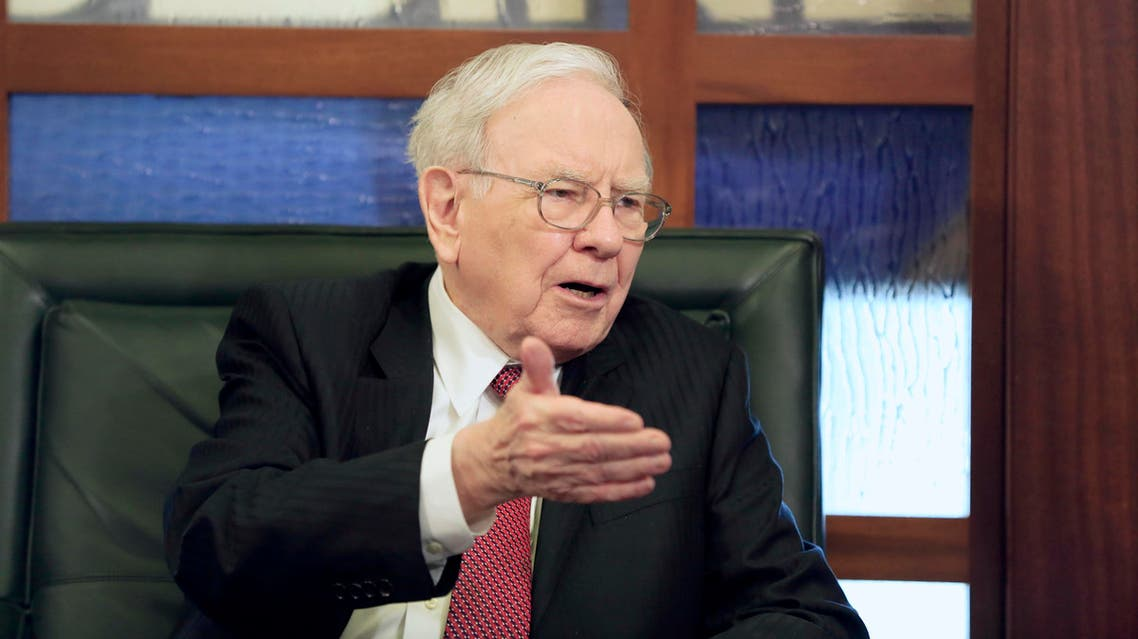 Berkshire Hathaway Chairman and CEO Warren Buffett speaks during an interview with Liz Claman on the Fox Business Network in Omaha, Neb., Monday, May 4, 2015. AP