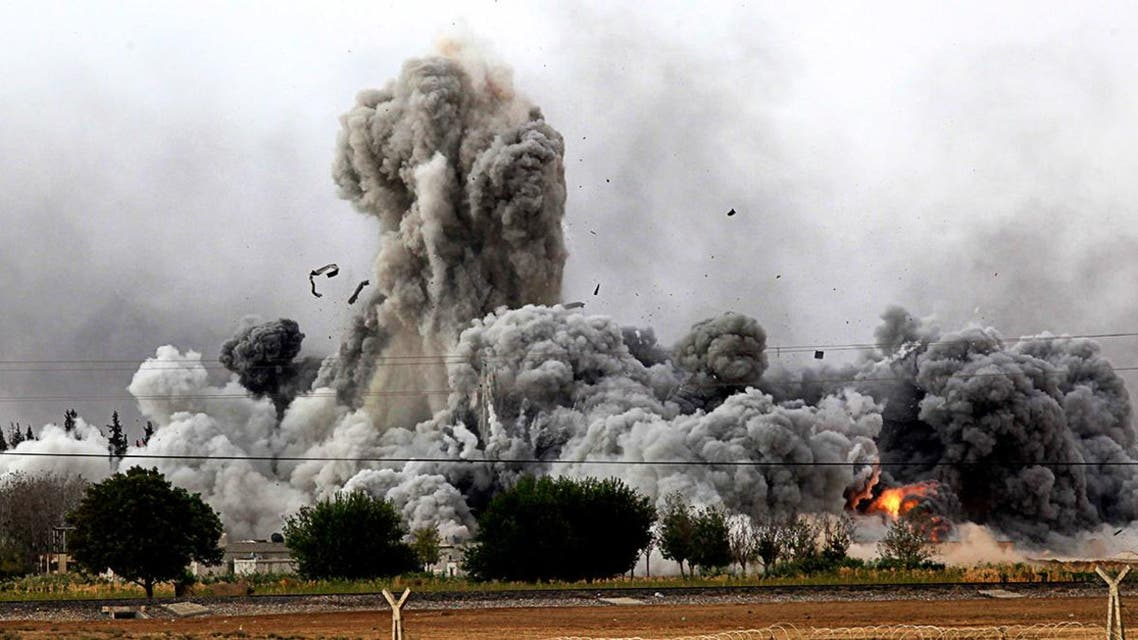 The US-led coalition airstrikes are designed to weaken the military capabilities of the militant group. (AFP)
