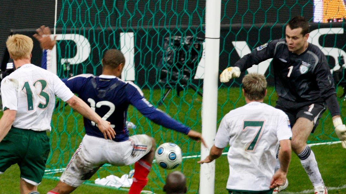These followed Ireland's 2-1 loss on aggregate to France in November 2009, a result partly achieved by an unpunished Thierry Henry handball that produced France's playoff-clinching goal. (File Photo; AP)