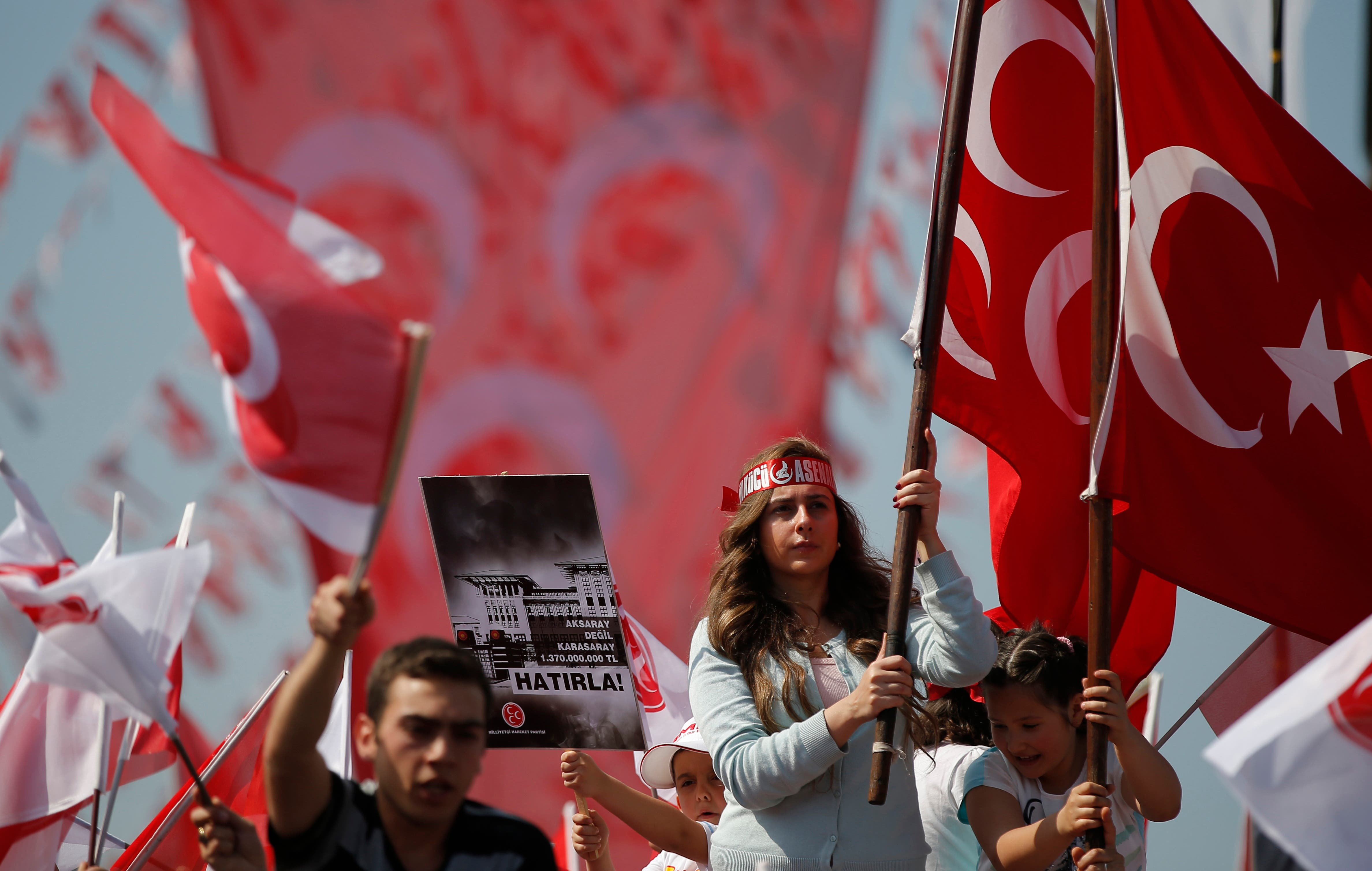 """مؤيدون للذئاب الرمادية في تركيا """"أرشيفية"""""""