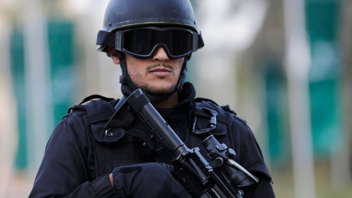 A police officer stands guard near a hotel in Manama, Bahrain, Dec. 5, 2014. (AP)