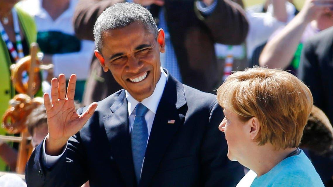 ميركل و أوباما