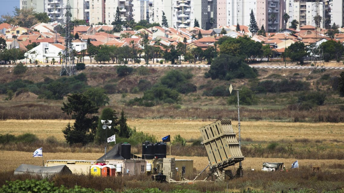 A recently located Iron Dome battary can be seen near the southern Israeli city of Ashkelon outside the Gaza Strip June 7, 2015. REUTERS