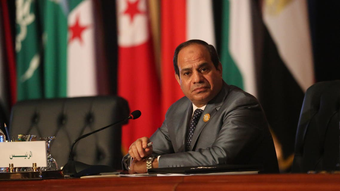 Egyptian President Abdel Fattah al-Sisi chairs an Arab foreign ministers meeting during an Arab summit in Sharm el-Sheikh, South Sinai, Egypt, Sunday, March 29, 2015. AP