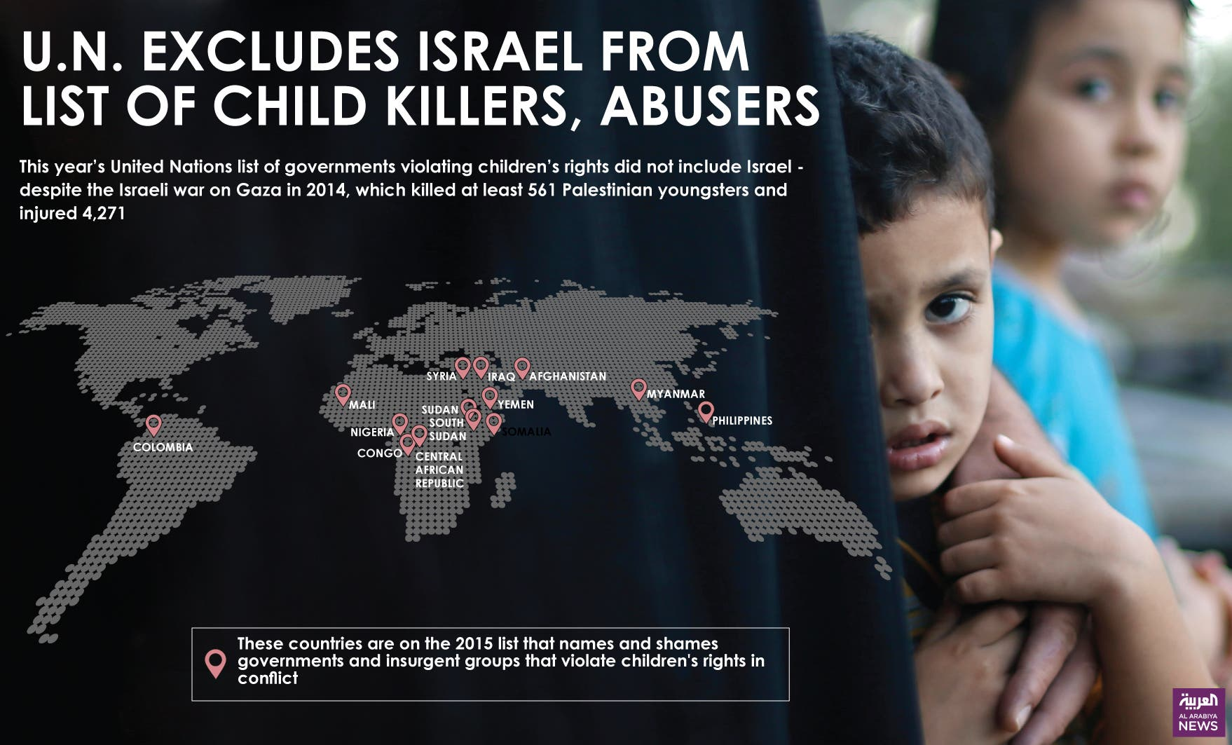 Infographic: U.N. excludes Israel from list of child killers, abusers