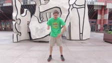 Watch this man dance wildly in 100 different locations