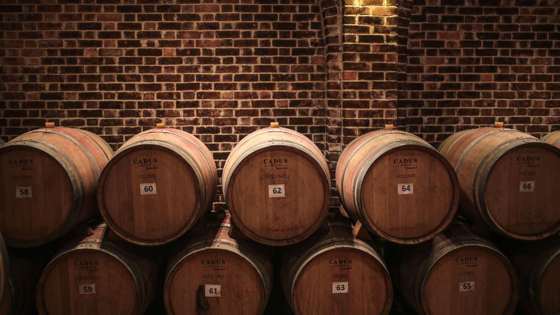 Egypt wine barrell AP