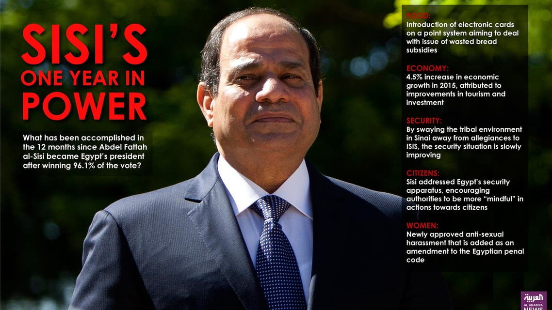 Infographic: Sisi's one year in power