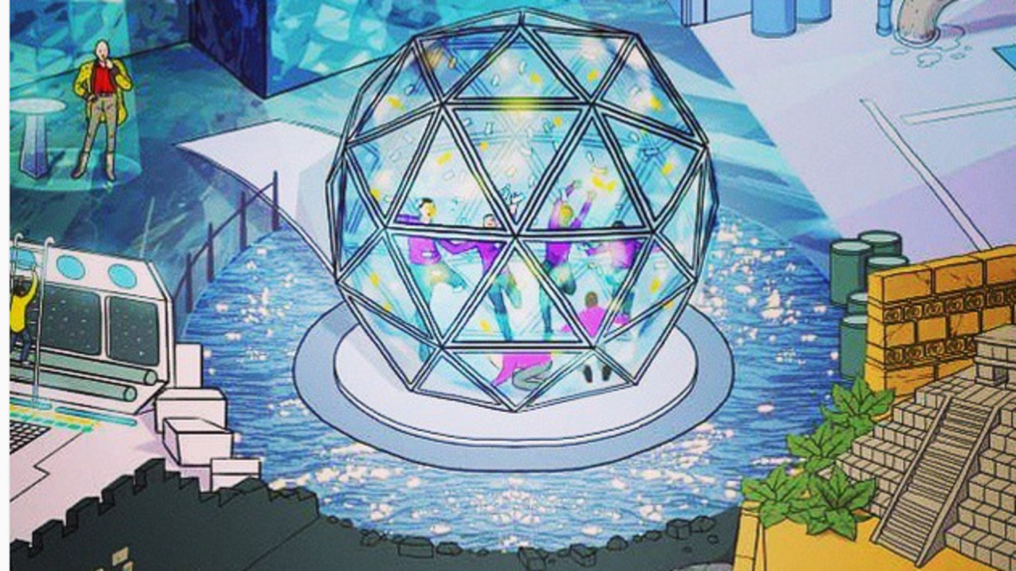 An artist's impression of the revamped Crystal Maze (Photo courtesy of Instagram)