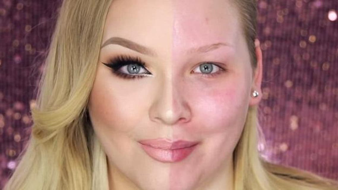 The final product shows the shocking difference between pre- and post-make-up. (Youtube)
