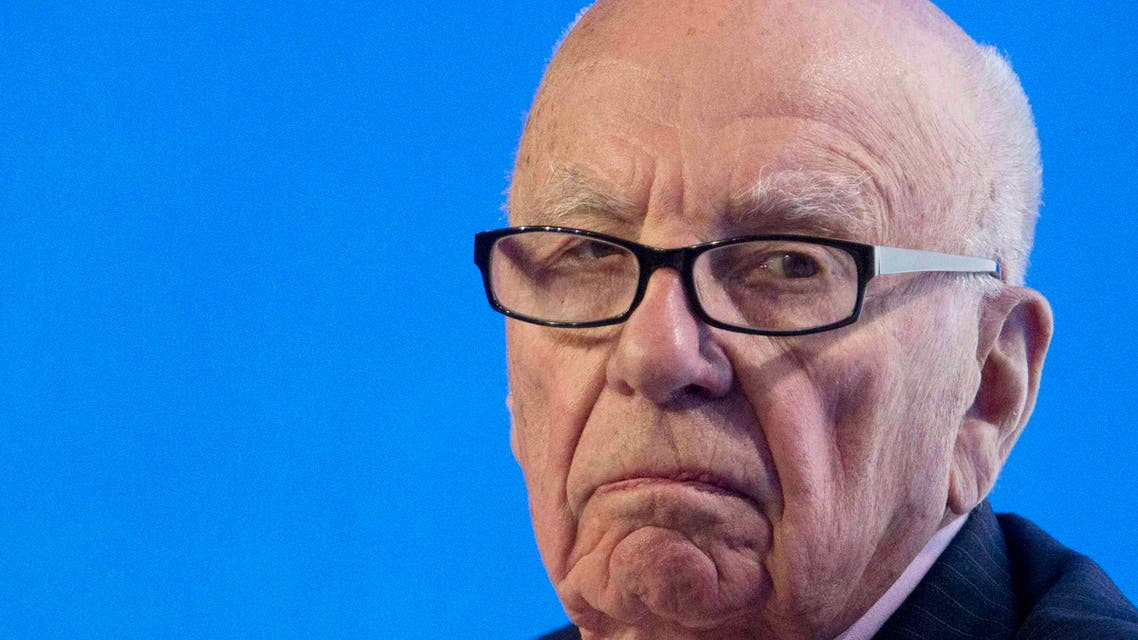Murdoch, executive chairman of News Corporation, reacts during a panel discussion at the B20 meeting of company CEOs in Sydney. (File Photo: Reuters)