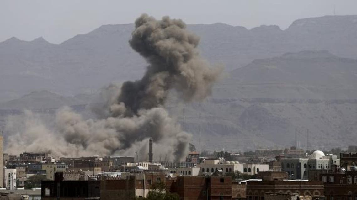 Smoke billows from a Houthi-controlled military site after it was hit by a Saudi-led air strike in Sanaa, Yemen, June 3, 2015.  Reuters