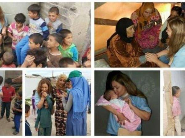 بالفيديو.. ليلى علوي تزور مخيمات لاجئي سوريا في لبنان