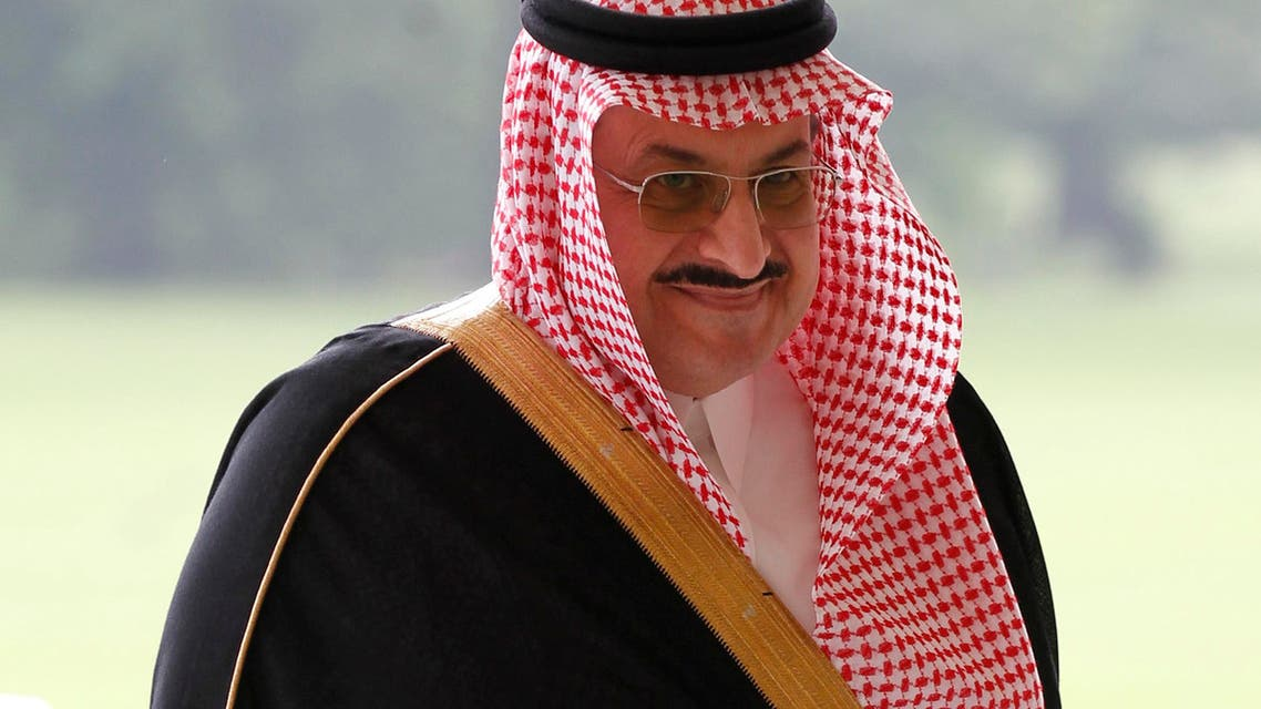 Saudi Arabia's Prince Mohammed bin Nawaf Al Saud arrives at Buckingham Palace in London for a reception hosted by Britain's Queen Elizabeth II for the heads of state and government prior to them attending the opening ceremony of London 2012 Olympic Games, Friday, July 27, 2012. (AP Photo/Sang Tan)