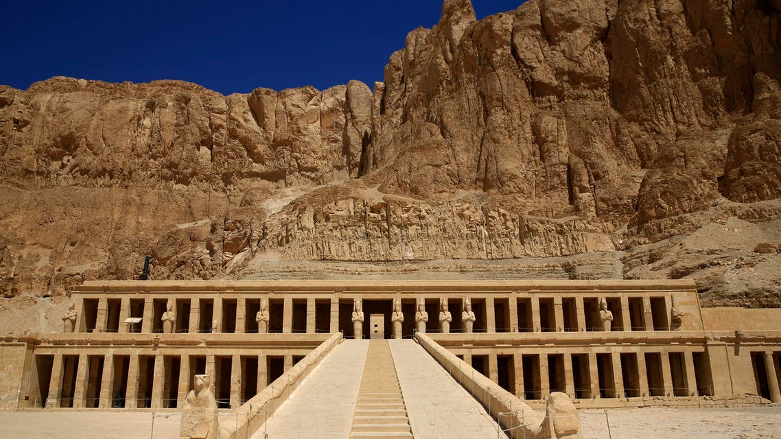 The Hatshepsut Temple is seen in Deir el-Bahari on the west bank of the Nile River at Luxor, Egypt, Thursday, June 11, 2015. (AP)