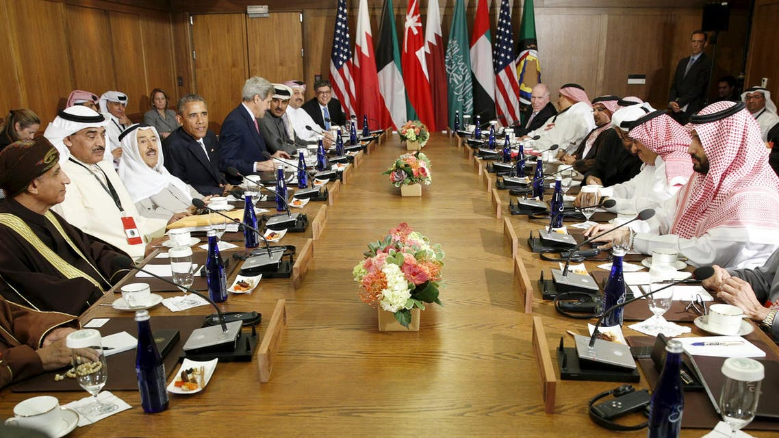 U.S. President Barack Obama hosts a working session of the six-nation Gulf Cooperation Council (GCC) at Camp David in Maryland May 14, 2015. (File Photo: AP)