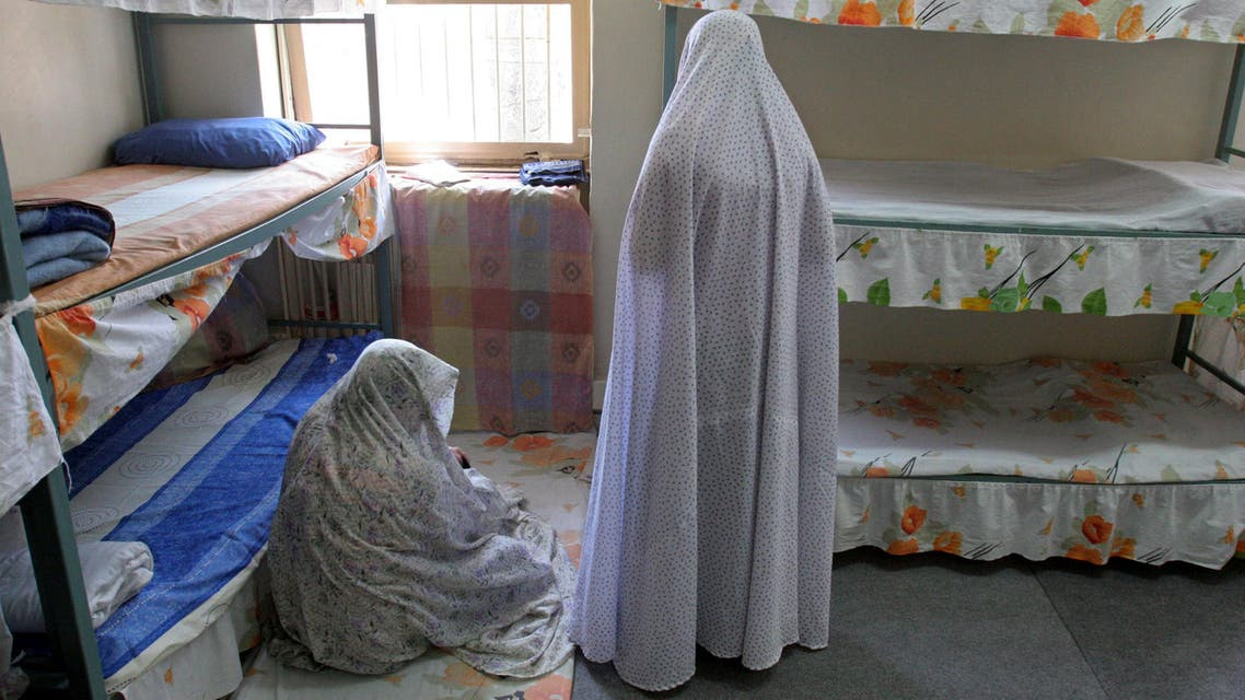 Iranian female prisoners in their cell in the Evin prison in Tehran, Iran. (File: AP)