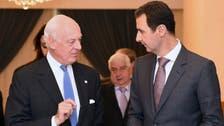 U.N. Syria envoy in Damascus for regime talks