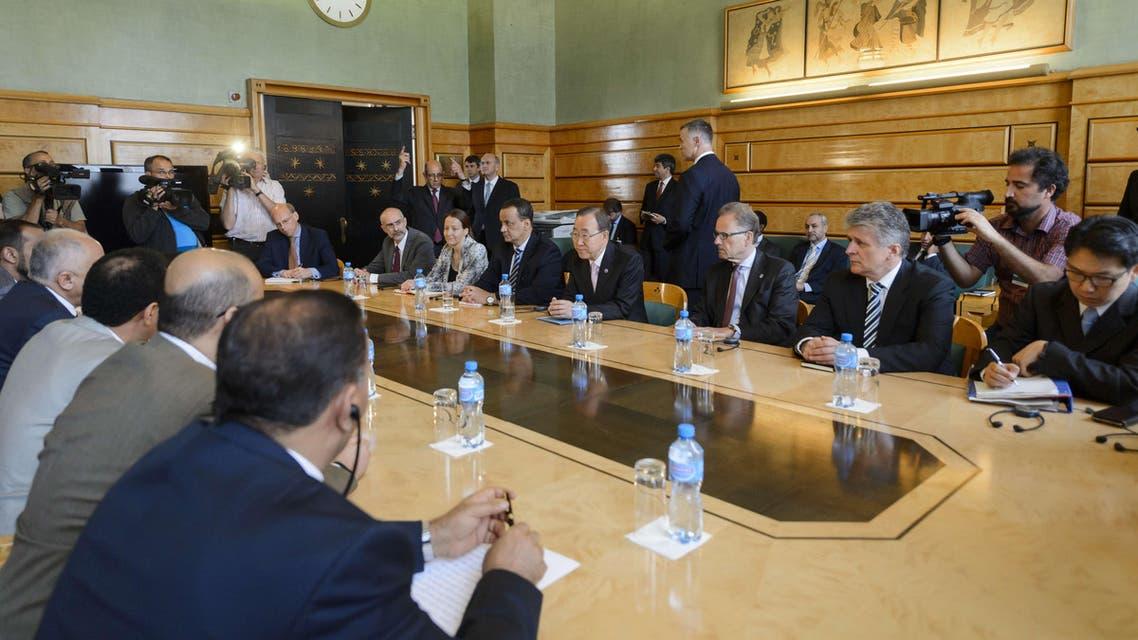 بان كي مون في مؤتمر جنيف حول اليمن
