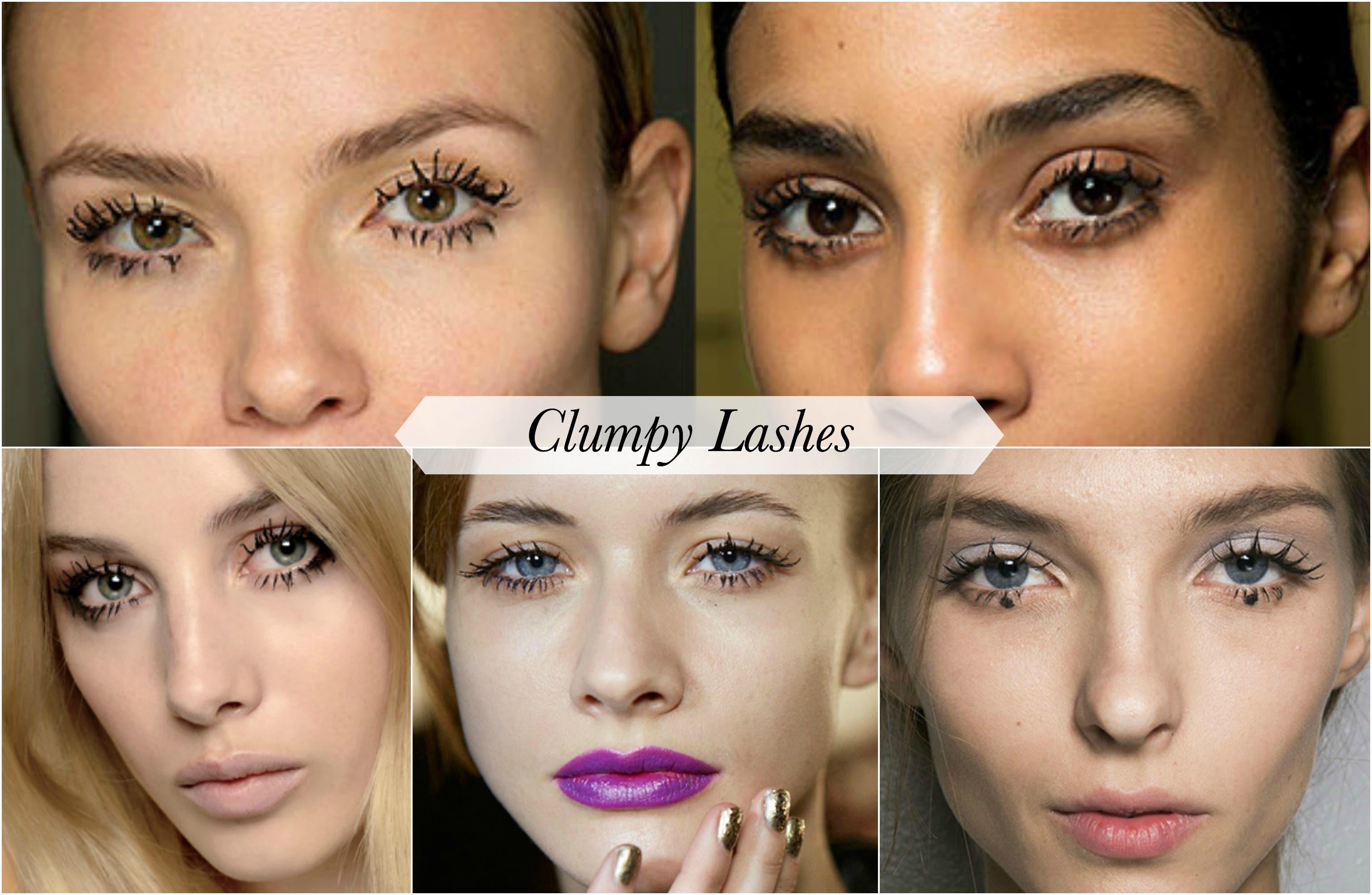 clumpy lashes