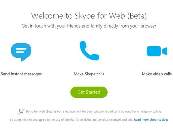 سكايب تتيح خدمة Skype for Web حول العالم