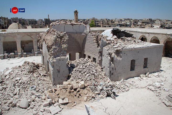 متحف معرة النعمان بعد قصفه من قبل طيران النظام