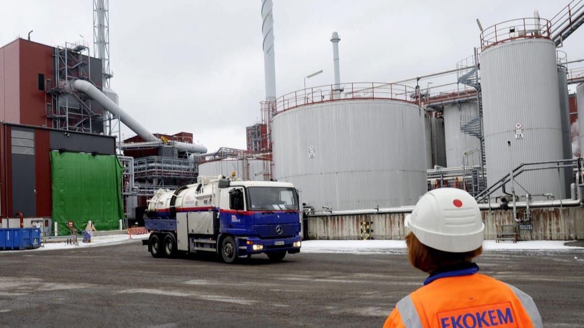 The scene inside Ekokem AB's hazardous waste treatment plant in Riihimaki, Finland, Feb. 14, 2014. The OPCW said a waste disposal facility in Finland last Thursday said it had destroyed 5,463 metric tons of methylphosphonyl difluoride effluent. (File Photo:AP)