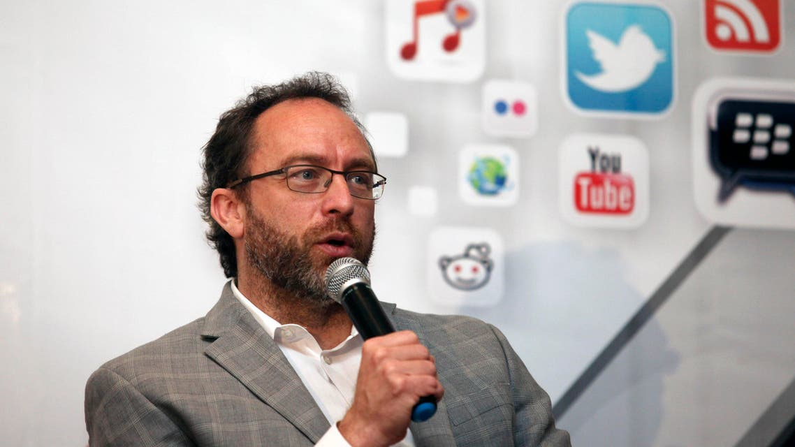 Jimmy Wales, the founder of Wikipedia speaks during a seminar on youth marketing in Africa in Lagos, Nigeria,Tuesday, March. 27, 2012. AP
