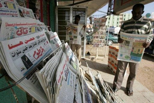 Newspapers are frequently confiscated in Sudan, which ranks among the worst in the world for press freedom (AFP)