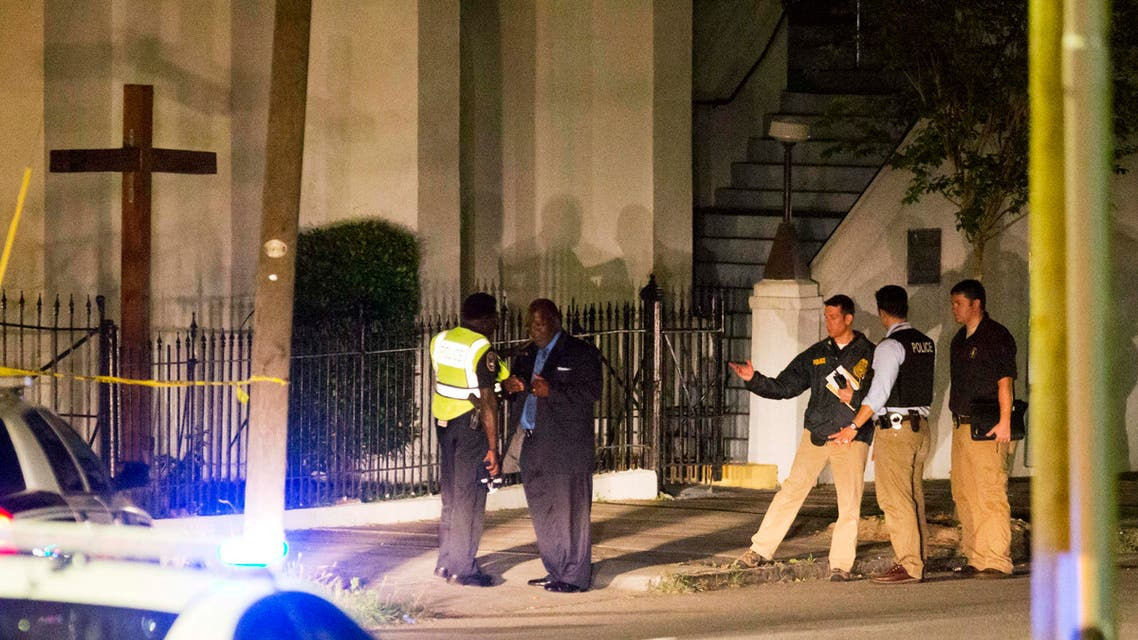 Police stand outside the Emanuel AME Church following a shooting Wednesday, June 17, 2015, in Charleston, S.C. (AP)